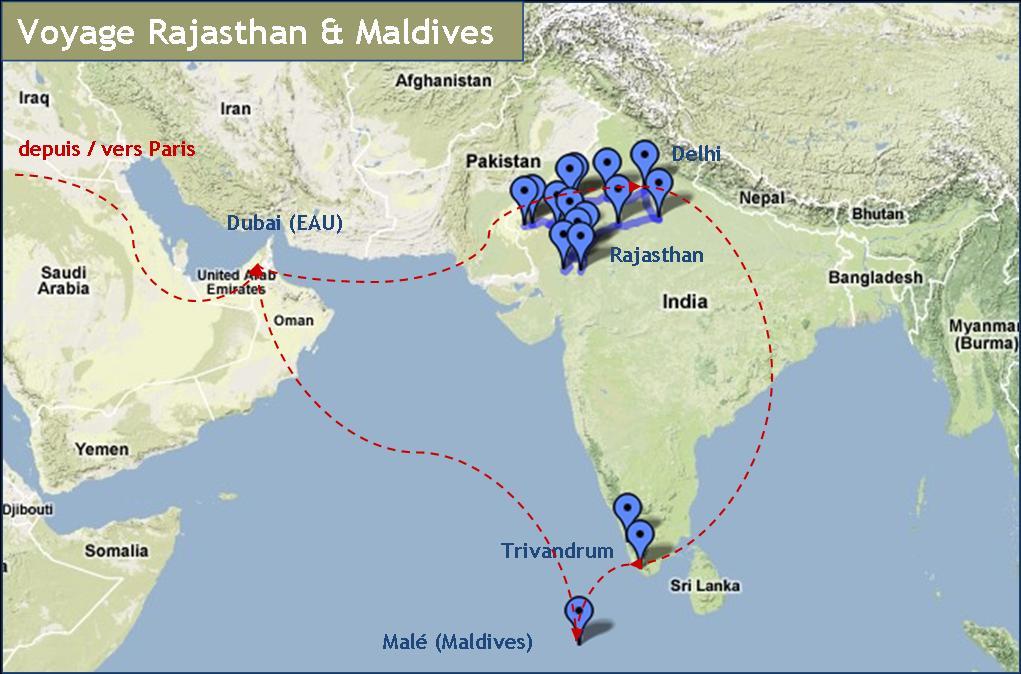 Carte Inde Maldives.Voyage Au Rajasthan Maldives La Belle Vie